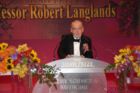 Professor Robert Langlands, Shaw Laureate in Mathematical Sciences 2007