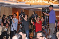 Media coverage at the Press Conference 2010