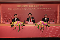 邵逸夫獎理事會理事正準備宣佈今屆得獎者名單及有關讚詞