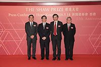 陳偉文先生、程伯中教授、楊綱凱教授與陳偉儀教授於2018年新聞發佈會上合照