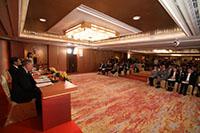 傳媒機構採訪2019年邵逸夫獎公佈得獎者的消息