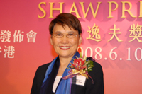 Mrs. Mona Shaw, Chairperson of The Shaw Prize Council