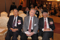 Professor Lin Ma, Professor Jean Pierre Bourguignon and Professor Kenneth Young at the Press Conference 2011