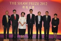 The Council Members welcome Mr and Mrs C Y Leung at the Award Presentation Ceremony 2012