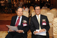Professor Chen-Ning Yang and Professor Pak-Chung Ching at the Press Conference 2013