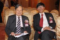 Professor Chen-Ning Yang and Professor Pak-Chung Ching at the Press Conference 2014