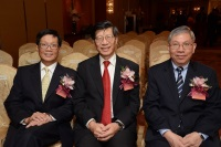 Professor Kenneth Young, Professor Pak-Chung Ching and Professor Wai-Yee Chan at the Press Conference 2015