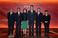 The Council Members welcome The Hon C Y Leung and Mrs Leung at the Award Presentation Ceremony 2016