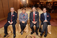 Professor Wai-Yee Chan, Mrs Mona Shaw, Professor Kenneth Young and Professor Pak-Chung Ching at the Press Conference 2017