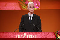 Speech by Professor Timothy Gowers - Chairman, The Shaw Prize in Mathematical Sciences Selection Committee